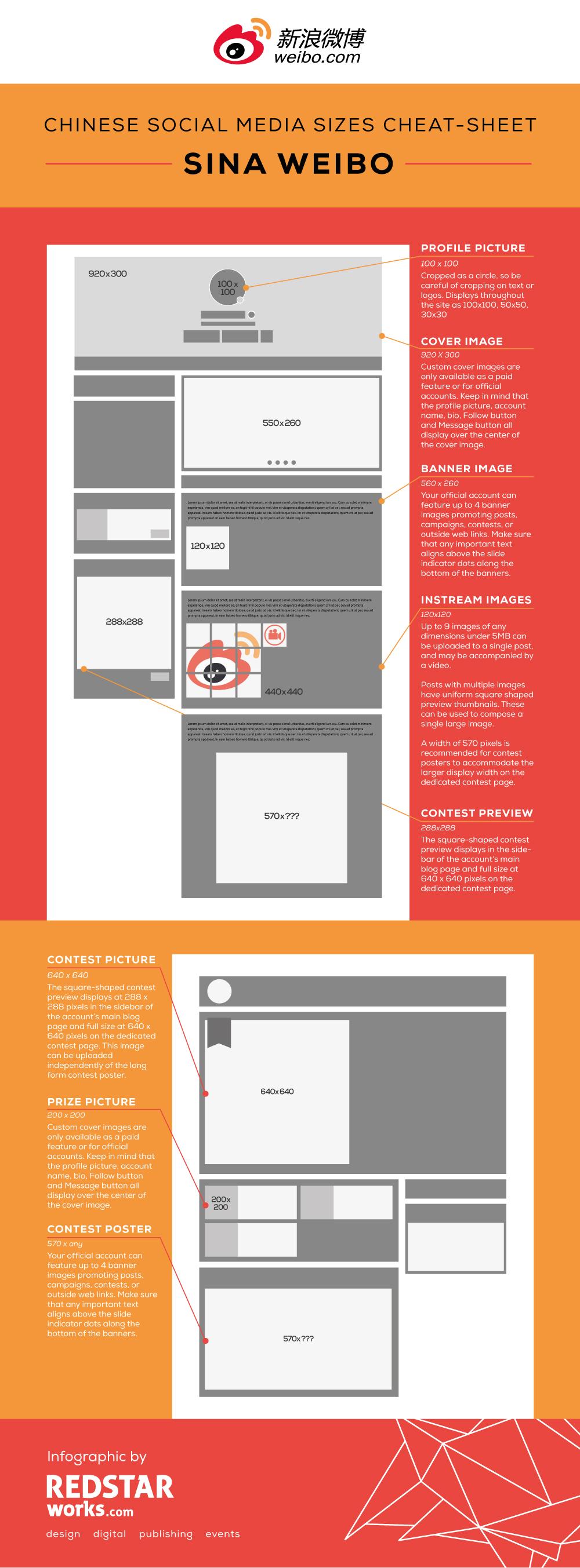 Weibo Social Media Cheat Sheet Redstar Works