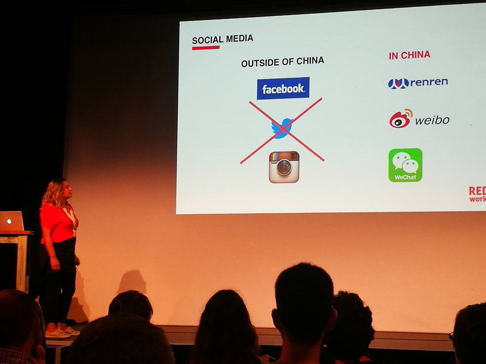 talking about the differences in social media in China