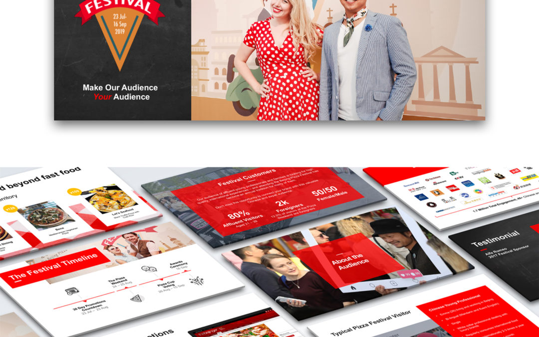Media kits and Sponsorship presentations design